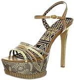 Jessica Simpson Skye Sandalias de plataforma para mujer, Dorado (Dorado (Gold Combo)), 38.5 EU