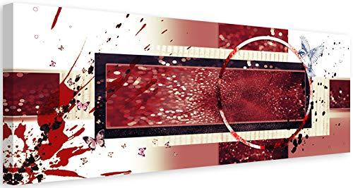 Cuadro en lienzo Abstracto 150x50 cm Impresion en Calidad fotografica moderno rojo