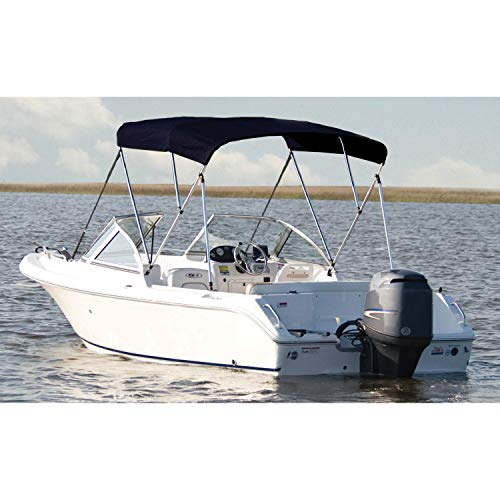 Best Review Of Carver A5487TB-2 Assembled 54 x 6' x 85-90 3-Bow Bimini Top with Boot, Jet Black