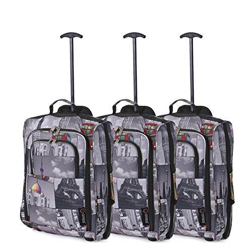 Set de Tres - Equipaje de Mano Equipaje de Cabina Maletas Trolley Bolsas de Viaje para Iberia/Vueling/Volotea (Ciudades)