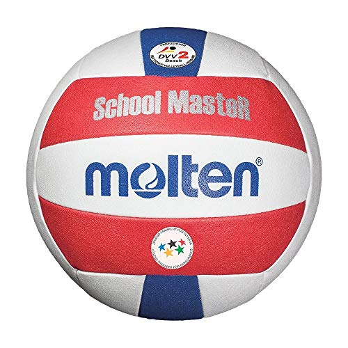 Molten V5B-SM - Balón de Voleibol Playero, Color Blanco, Rojo y Azul