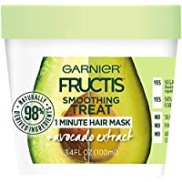 Garnier Fructis Smoothing Treat 1 Minute Hair Mask 3.4 Fl Oz (Avocado)
