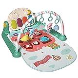 Baby Play Mat Gimnasio, Baby Activity Play Mat, Play Mat Newborn, Baby Fitness Rack Pedal Piano Game Manta, Teclas De Música De Piano, Sonidos Y Luces Nocturnas para Bebés Recién Nacidos