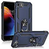Étui ULAK pour iPhone SE 2020 / iPhone 8 7 avec support pivotant, étui de protection testé contre les chutes de 15 pieds, étui durable hybride résistant aux chocs pour iPhone 7/8 / SE 4,7 pouces, bleu
