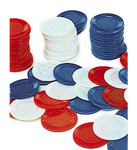 100 blu Poker Chips - Set di 100 Poker Chips In Blue