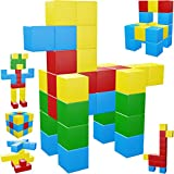 Intock Magnetic Blocks, 40 Pieces Magnetic Cubes, Innovative Magnetic Building Blocks for Kids, Autism Toys Magic Cube, Sensory Toys for Kids