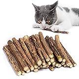 bastoncini erba gatta, In legno di Matatabi per la cura dentale aiutano Giocando ad eliminare alitosi, Giocattoli olfattivo di arricchimento per Il Gatto, Confezione da 30 Pezzi