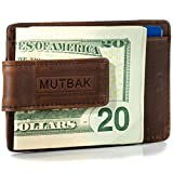 MUTBAK Bunker - Front Pocket Magnetic Money Clip Wallet with RFID/NFC...