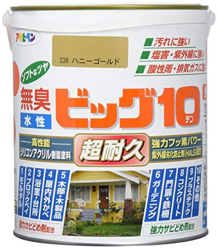 アサヒペン 水性ビッグ10多用途 238ハニーゴールド 1.6L
