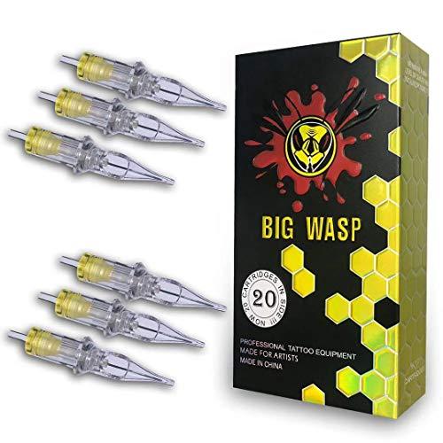 BIGWASP 4th Generation Premium Tattoo Needle Cartridges #10 Bugpin 3 Round Shader (3RS) 20Pcs