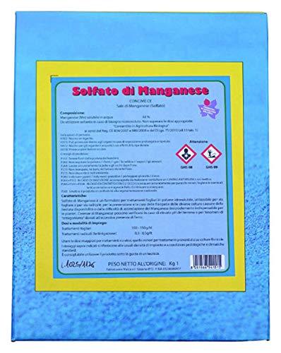VIALCA Solfato di Manganese 1KG Fertilizzante IDROSOLUBILE Biologico