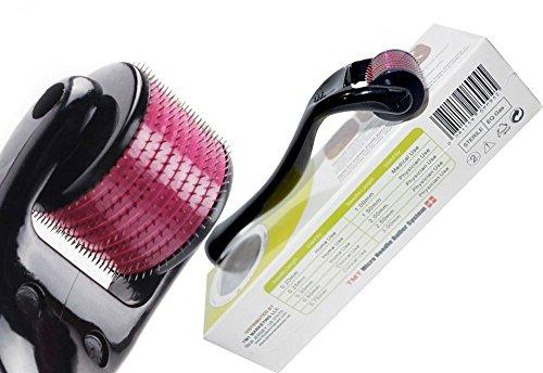 Rouleau à micro-aiguilles TMT Micro Needle Roller System® - En titane - Pour : rides, cicatrices, acné, traitement de la cellulite - 540 aiguilles - 1,0 mm