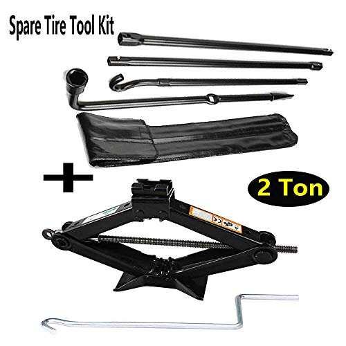 Autofu Spare Tire Removal Tool and Scissor Jack Handle 2 Ton Set for Ford F150 Truck (2004 to 2014) Wheel Release/Removal Repair Lug Wrench Replacement Kit