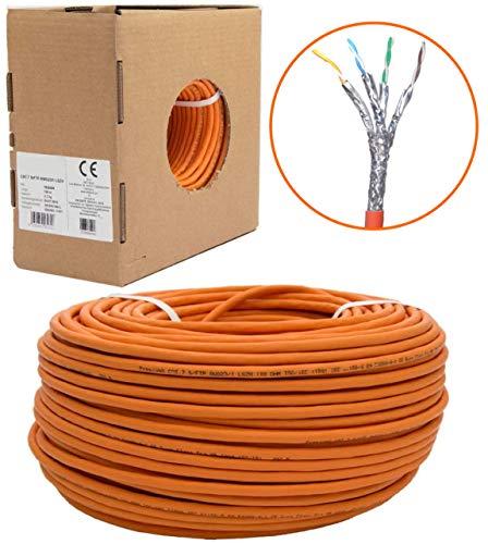 20m CAT.7 Netzwerkkabel LAN Kabel Installationskabel Verkabelung Datenkabel CAT7 CAT 7 Gigabit GB GHMT BauPVO Eca orange