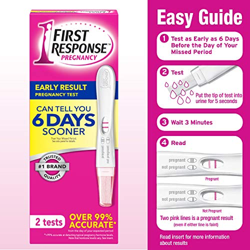 First Response Early Result Pregnancy Test, 2 Pack (Packaging & Test Design May Vary)