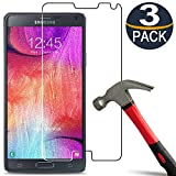 Best Galaxy Note 4 Screen Protectors - [3 Pack] Galaxy Note 4 Screen Protector [9H Review