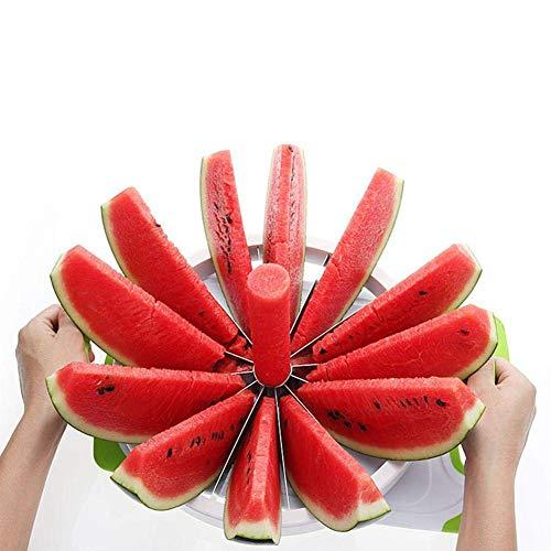 Wassermelonenschneider Edelstahl, Melonenschneider für alle Melonensorten, Cantaloupe Ananas Zitrone Orange Brotschneidemaschine Fit Home