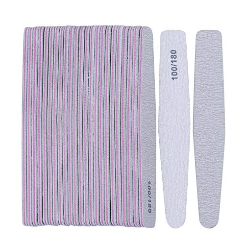 25 Pcs Emery Boards for Nails 100/180 Nail Files Bulk Finger Nail File Boards Heavy Duty Nail Buffers