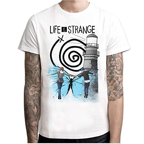 Life is Strange t Shirt Men Anime T-Shirt Men Tops Boy Short Sleeve t-Shirt top Tee Clothes M7R1159
