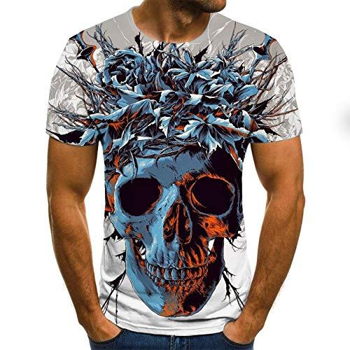 T Shirt Men Clothes Mens Summer Skull Print Men Short Sleeve T-Shirt 3D Print T Shirt Casual Breathable Funny T Shirts 6XL Txu-1827