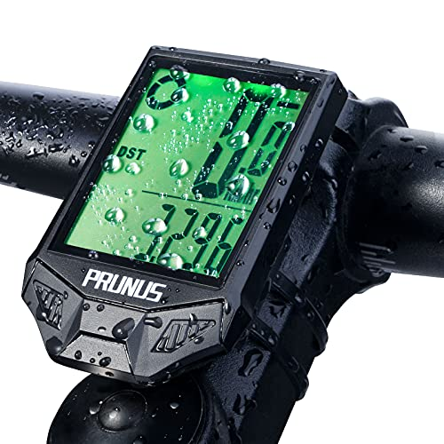 prunus Cycle Computers Wireless,Waterproof Bike Computer with 20 Functions, Bike Speedometer with Auto on/off for Outdoor & Indoor Tracking