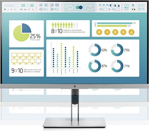 HP EliteDisplay E273 Flachbildschirm, 27 Zoll (68,6cm), Full HD, IPS, Schwarz, Silber, 1.920 x 1.080Pixel, LED, 5 ms, 250 cd/m² - 4