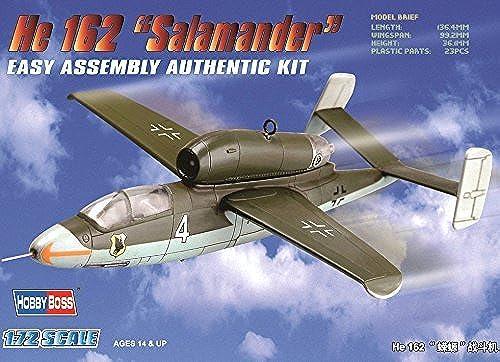 Hobbyboss 1 72 Scale He 162 Salahommeder Diecast Model Kit by Hobbyboss