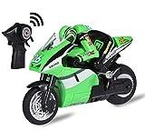 Top Race Moto RC télécommandée à 4 canaux sur 2 roues avec gyroscope intégré, échelle 1: 20, recharge par USB. TR-M29G