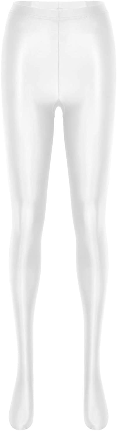 moily Women's Sheer Mesh Shiny Glossy Footed Tights Leggings Stockings Ultra Shimmery Pantyhose