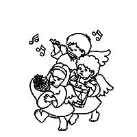 音楽ステッカーSilhoutteデカールブラック/シルバー素敵なデザインカバザ・ボディC20-1484を再生14.6 * 17.3CM幼稚な天使 (Color Name : Black)