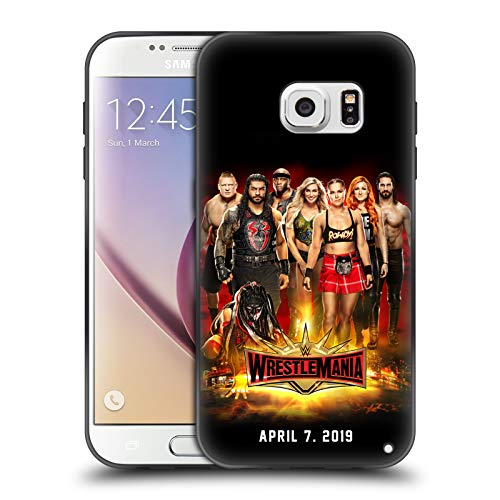 Head Case Designs Officially Licensed WWE Group Wrestlemania 35 Skinny Fit Hybrid Iced Case Compatible with Samsung Galaxy S7