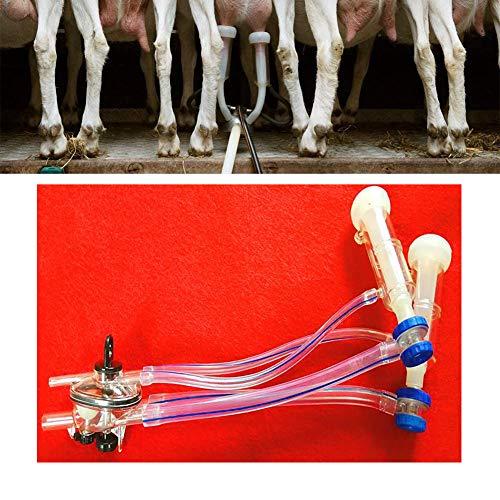 WRJ Ordeño De Cabra, Que Atienden Melkwerkzeug De Cerchas Cabras Rinderkuh para Ordeñar Eléctrico Ordeño Máquina Kit Mini Tipo Portable De Ordeño De La Máquina De Doble Cabezal,1