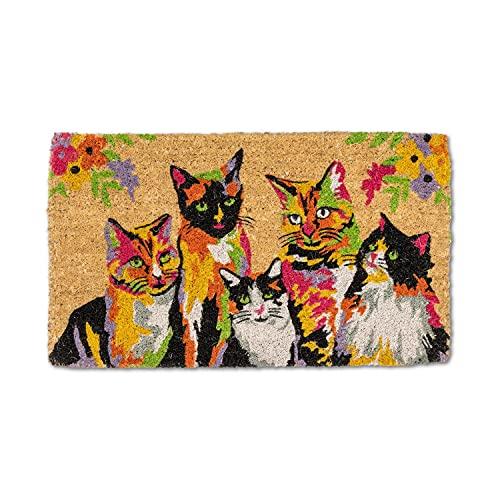 Abbott Collection 35-FWD-AN-2332 - Felpudo de gatos abstractos, multicolor