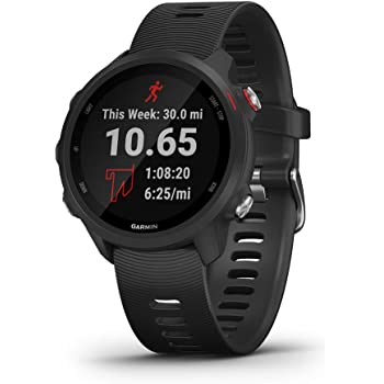 Garmin 010-02120-20 Forerunner 245 Music, GPS Running Smartwatch with Music and Advanced Dynamics, Black