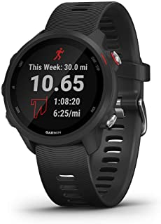 Garmin Forerunner 245 Music Rubber Smart Watch (Black)