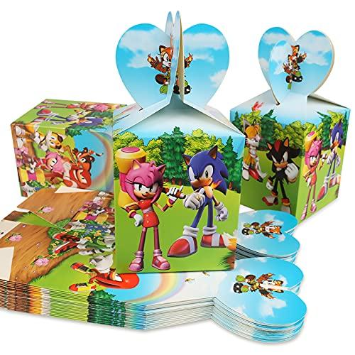 Gxhong Sonic Cajas De Fiesta Bolsas de Cumpleaños, Cajas de golosinas, Regalo...