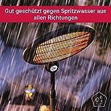 SUNTEC Quarz-Terrassenheizstrahler Night Sun [Für Balkon, Terrasse, Garten, Infrarotwellnesswärme, 3 Heizstufen, höhenverstellbar, max. 2000 W]