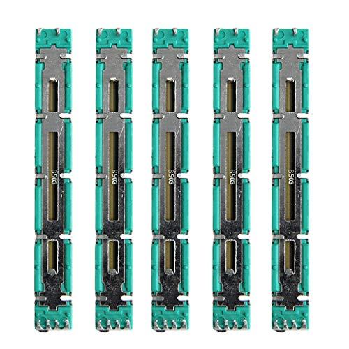 FXCO 5PCS 75mm Mixer Fader A20K / B20K / B50K Dual Doppelgerader Potentiometer Mixer Fader Für Behringer Soundcraft