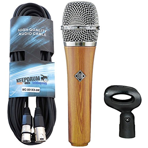 Telefunken M80 Oak dinámico micrófono Keepdrum XLR de