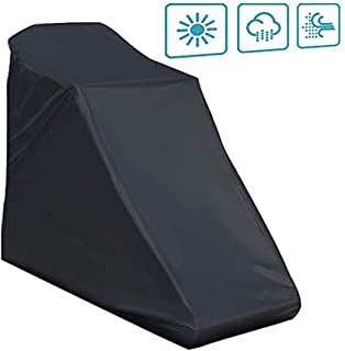 Onlyme Treadmill Covers for Non-Folding Home Running Machines with Zipper & Drawstring, Black(78x37x62 inch) (78 x 37 x 62 inch)