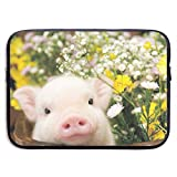 Laptop Sleeve MacBook 13 Inch 15 Inch Tablet Carrying Case Cases Cute Pig Baby Flowers Neoprene Compatible Notebook Computer Bag