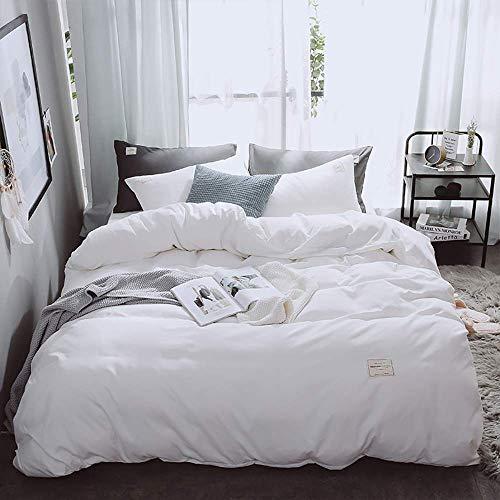 Sängöverdragssängar Sängkläder Dubbelsäng Vita påslakan Sängkläder Set 4 delar Dubbel dubbelsäng Queen size-täcke täcke platt lakan Örngott Supermjukt sängkläder 4-delars set påslakan