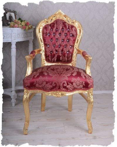 Königlicher Sessel, Stuhl, Polstersessel, Medaillonsessel, Polstermöbel aus Holz im zeitlosen Barockstil, hochwertige Verarbeitung - Palazzo Exclusive