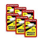 Colors Are Free Pack Adhesivos Pegatinas 25x17cm señalización Ángulos Muertos - Attention Angles MORTS - Pegatina Camiones Francia - Laminado Alta Resistencia (6)