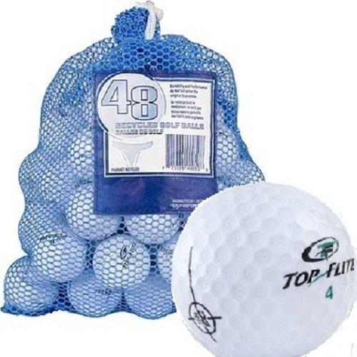Top Flite 48 Recycled Golf Balls in Mesh Bag - 577412 (2-2-Pack)