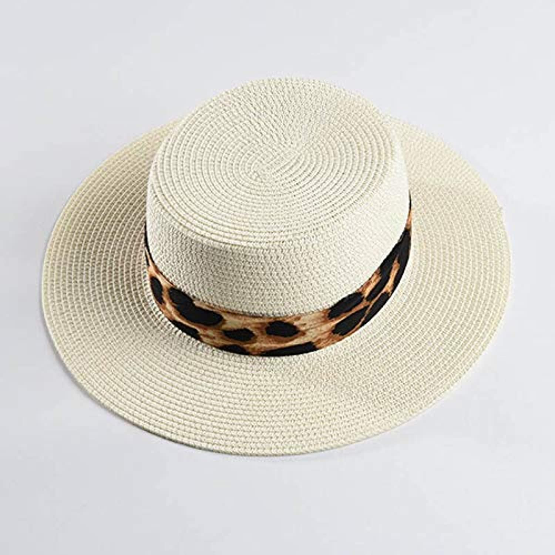 7f48c3238e7d LONLLWK Unisex Paper Straw Hat Wide Brim Boater Hats Sun Hat for ...