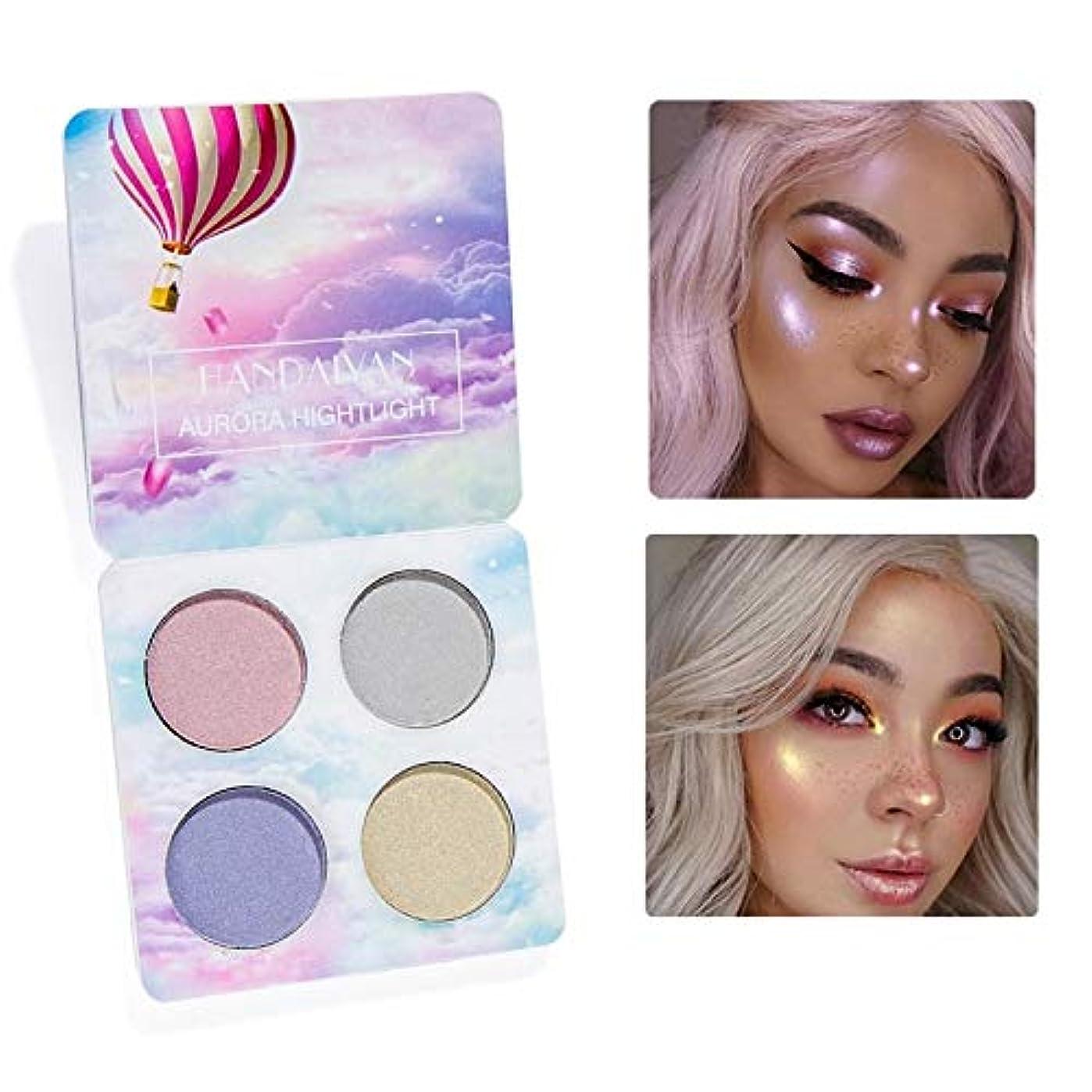 宿泊平行チェリーFestival Makeup Highlighter Powder Glow Kit iluminador maquillage Brighten Shimmer Shine Rainbow Pigment Highlighter Palette
