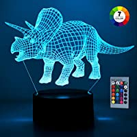 SOKY Dinosaurier Nachtlicht für Kinder Jungen 2-10 Jahre, Spielzeug für Jungen 2-10 Jahre Einzigartig Jungen Geschenke 2-10 Jahre Spielzeug für Jungen ab 3-10 Party Geschenk Geschenkbox Geburtstag