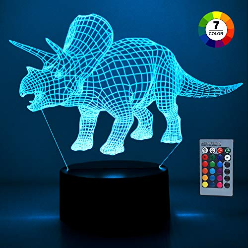 Kimy Toys for 3-10 Year Old Boys, 3-10 Year Old Boys Girls Gifts Dinosaur Light for 3-10 Year Old Kids Presents Birthday Boys Girls Gifts Age 3-10 Light Gifts Triceratops Christmas Xmas Presents
