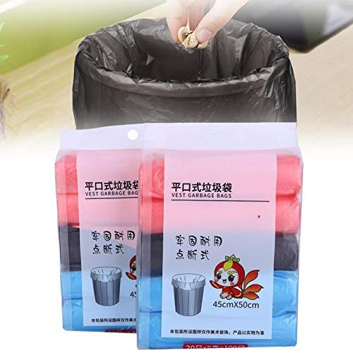 2 påsar 45 x 50 cm soptäckning förtjockning Bärbar sopsäck Återvinningspåsar för hushållshotellet, soposar sopor och säckar papper, folie och plast